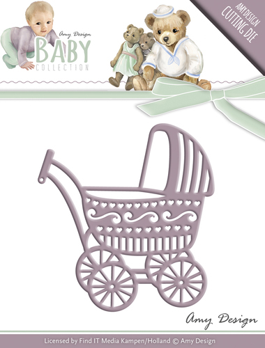 Card Deco - Amy Design - Die - Baby Collection - Baby Carriage