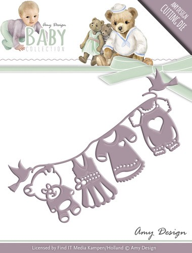 Card Deco - Amy Design - Die - Baby Collection - Clothes line
