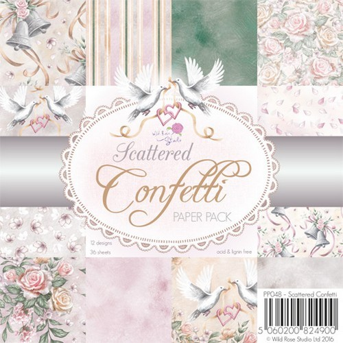Wild Rose Studio`s - Paperpack - Scattered Confetti - PP048