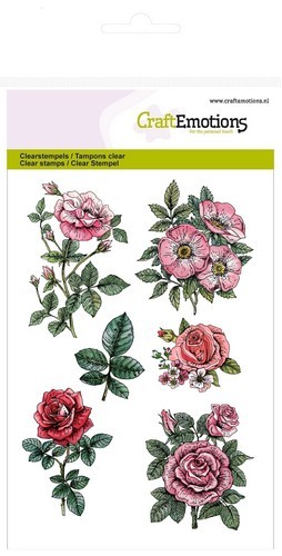 CraftEmotions - Clearstamp - Botanical Rose Garden 2 - 130501/1241