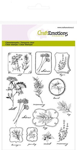 CraftEmotions - Clearstamp - Herbal Labels - 130501/1236