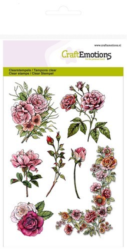 CraftEmotions - Clearstamp - Botanical Rose Garden 1 - 130501/1240