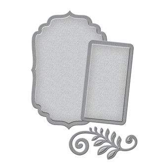 Spellbinders - Die - D-Lite - Label and Accent