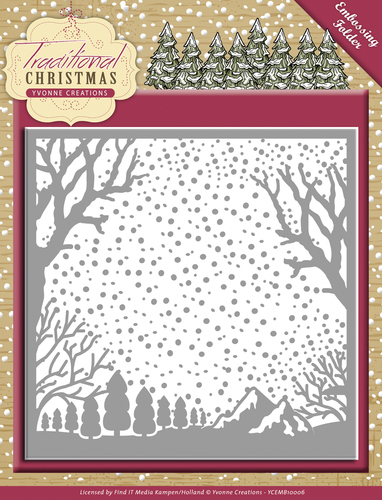 Yvonne Creations - Embossingfolder - Traditional Christmas - YCEMB10007