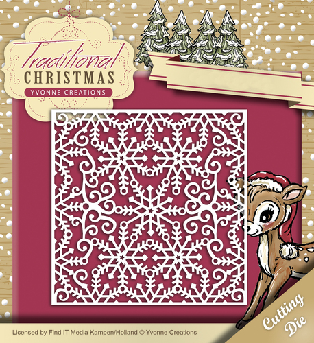 Card Deco - Yvonne Creations - Die - Traditional Christmas - Snowflake Frame