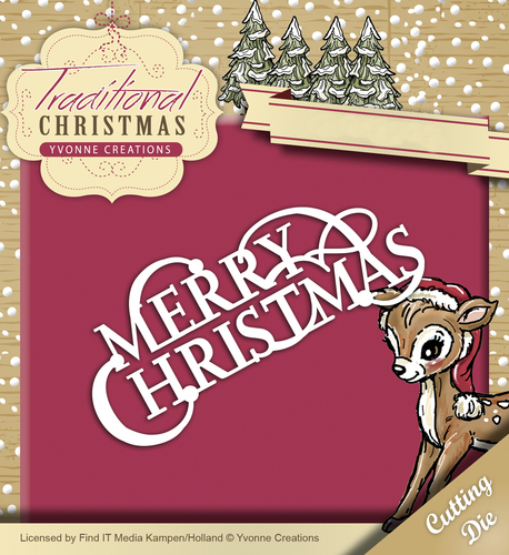 Yvonne Creations - Die - Traditional Christmas - Merry Christmas - YCD10057