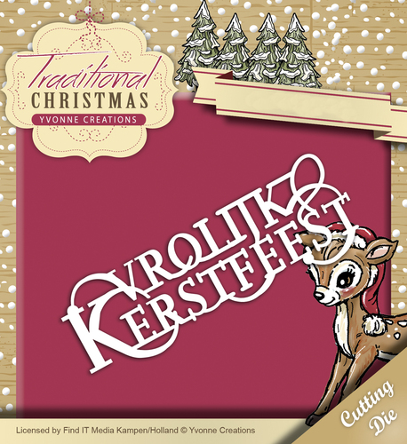 Yvonne Creations - Die - Traditional Christmas - Vrolijk Kerstfeest - YCD10056
