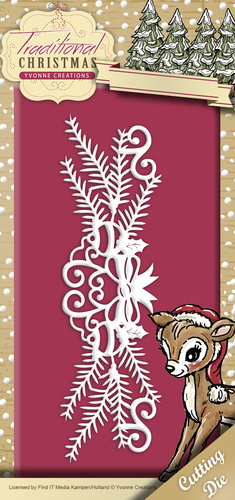 Card Deco - Yvonne Creations - Die - Traditional Christmas - Holiday Garland