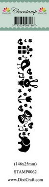 Dixi Craft - Clearstamp - Cute Animal Border 2 - STAMP0062