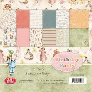 Craft & You Design - Paperpack - Birthday Party - CPB-BP15