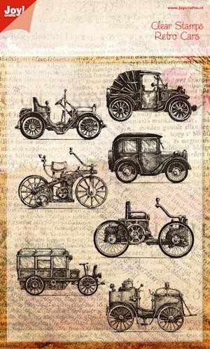Joy! crafts - Noor! Design - Clearstamp - Retro auto`s - 6410/0386