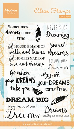 Marianne Design - Clearstamp - Dreams - CS0975