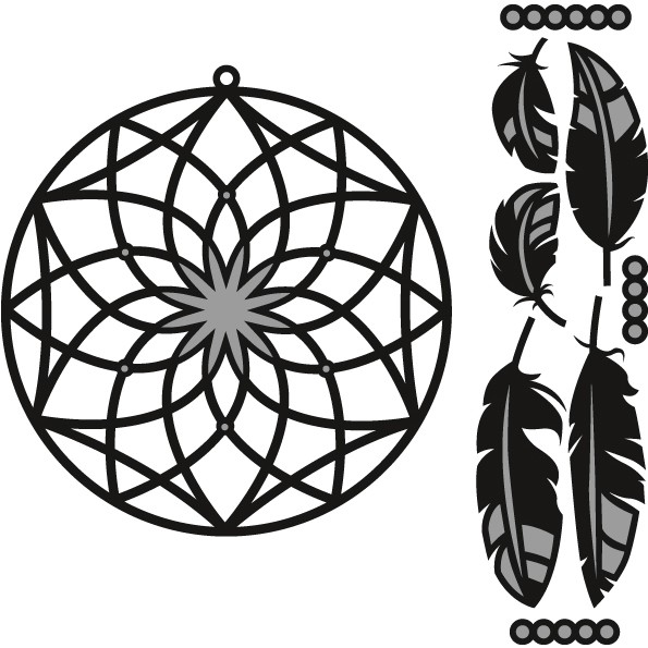 Marianne Design - Die - Craftables - Dreamcatcher - CR1373