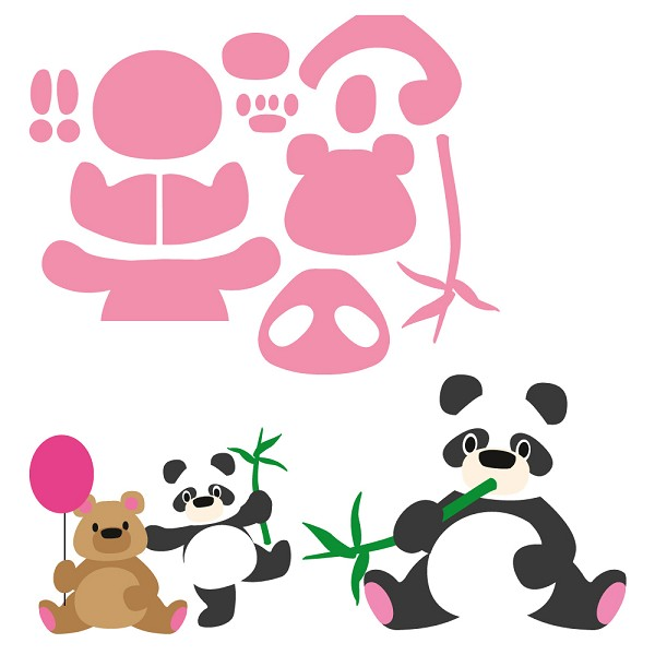 Marianne Design - Die - Collectables - Eline`s Panda & Bear - COL1409