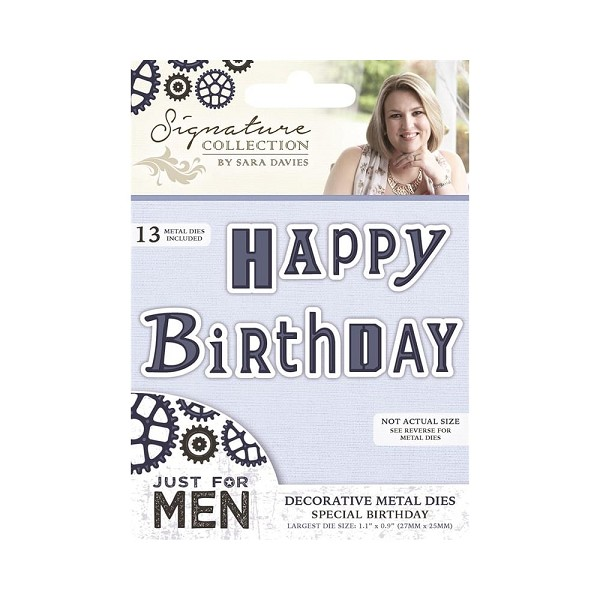 Crafter`s Companion - Sara Davies - Die - Just For Men - Special Birthday - S-MEN-MD-SBIR