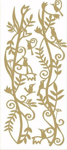 CreaMotion - Stickervel - Afbeeldingen - Birds: Goud - BST483799