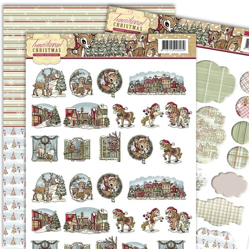 Yvonne Creations - 3D-knipvel A4 - Traditional Christmas - Minis & labels - YCMIN10004