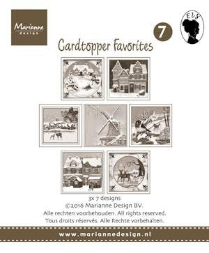 Marianne Design - Paperpack - Card Toppers - Favorites Els 2: sepia - CT1507