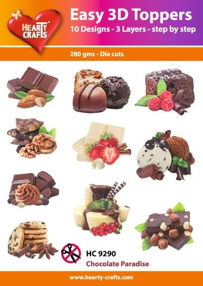 Hearty Crafts - Easy 3D Toppers - Chocolate Paradise - HC9290