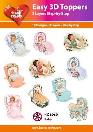 Hearty Crafts - Easy 3D Toppers - Baby - HC8969