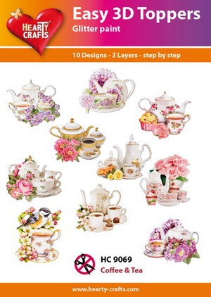 Hearty Crafts - Easy 3D Toppers - Coffee & Tea - HC9069