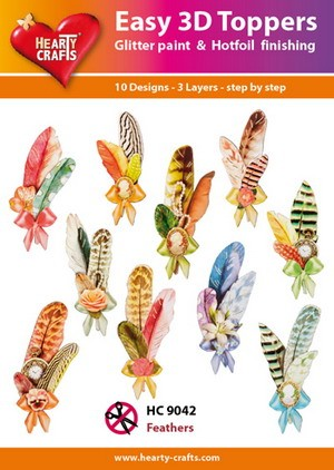 Hearty Crafts - Easy 3D Toppers - Feathers - HC9042
