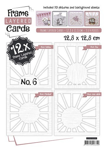 Card Deco - Frame Layered Cards - Book 4K - No. 06 - LC4K10006