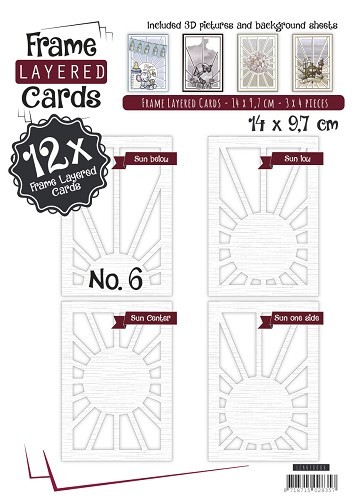 Card Deco - Frame Layered Cards - Book A6 - No. 06 - LCA610006