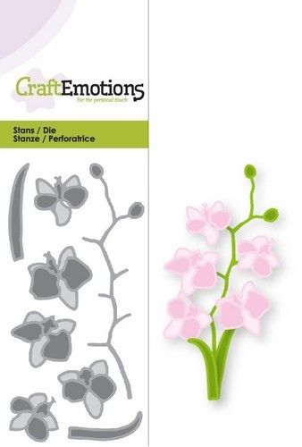 CraftEmotions - Die - Romantic Orchid - Orchidee - 115633/0169