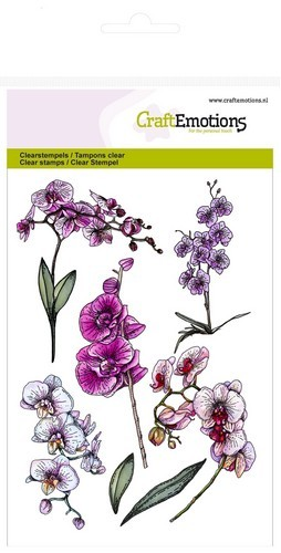 CraftEmotions - Clearstamp - Romantic Orchid - Orchid branches - 130501/1243