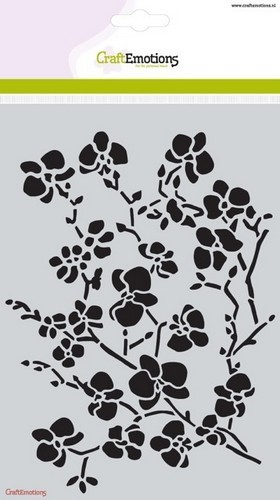 CraftEmotions - Maskingstencil - Romantic Orchid - Orchid branches - 185070/1236