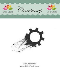 Dixi Craft - Clearstamp - Gear - STAMP0064