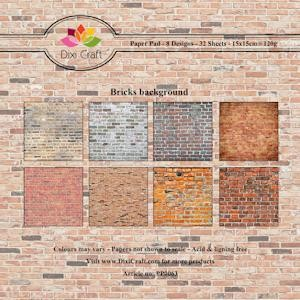 Dixi Craft - Paperpack - Bricks background - PP0063