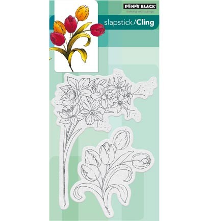 Penny Black - Cling Stamp - Flower gala - 40-437