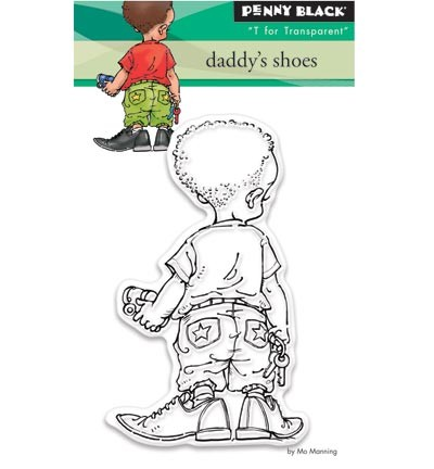 Penny Black - Clearstamp - Daddy`s shoes - 30-360
