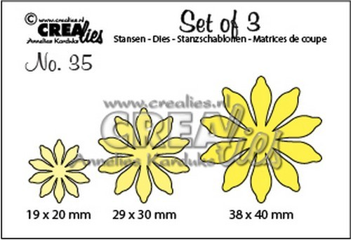 Crealies - Die - Set of 3 - Flowers - No. 35 - CLSET35