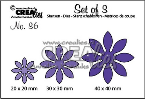 Crealies - Die - Set of 3 - Flowers - No. 36
