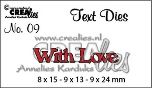 Crealies - Die - Tekststans - English Text - With Love