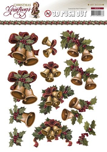 Amy Design - (3D-)stansvel - Christmas Greetings - Kerstklokken - SB10112
