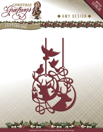 Card Deco - Amy Design - Die - Christmas Greetings - Reindeer Ornament