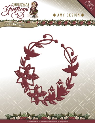 Amy Design - Die - Christmas Greetings - Ornament - ADD10068