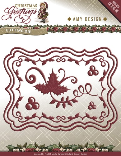 Amy Design - Die - Christmas Greetings - Christmas Card set - ADD10066