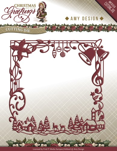 Amy Design - Die - Christmas Greetings - Frame - ADD10065