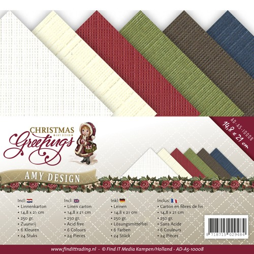 Amy Design - Linnenpakket - 148 x 210mm (A5) - Christmas Greetings - AD-A5-10008