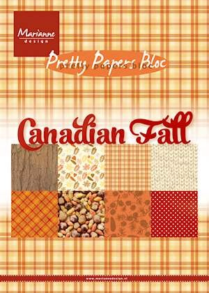Marianne Design - Paperpack - Pretty Papers - Canadian Fall - PK9138