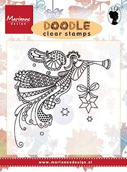 Marianne Design - Els Wezenbeek - Clearstamp - Doodle Angel - EWS2220