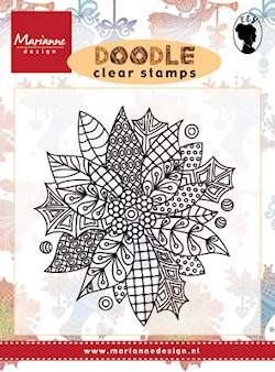 Marianne Design - Els Wezenbeek - Clearstamp - Doodle Poinsetta - EWS2222