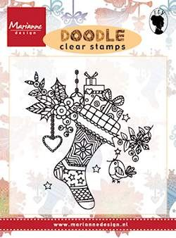 Marianne Design - Els Wezenbeek - Clearstamp - Doodle Christmas Stocking - EWS2223