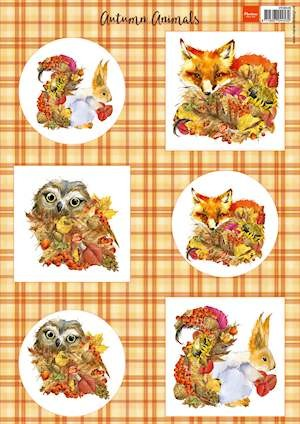 Marianne Design - Vintage - 3D-knipvel A4 - Autumn Animals - Fox
