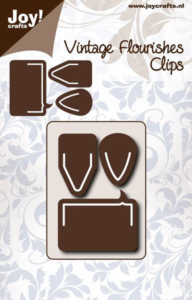 Joy! crafts - Noor! Design - Die - Vintage Flourishes - Clips